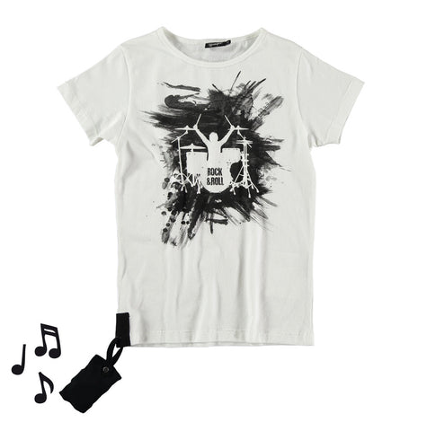 Kids tee with sound Battery by Yporqué