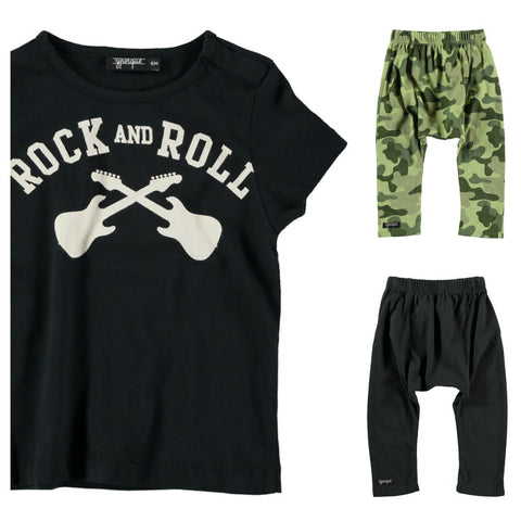 Rock'n'Roll baby tee by Yporqué