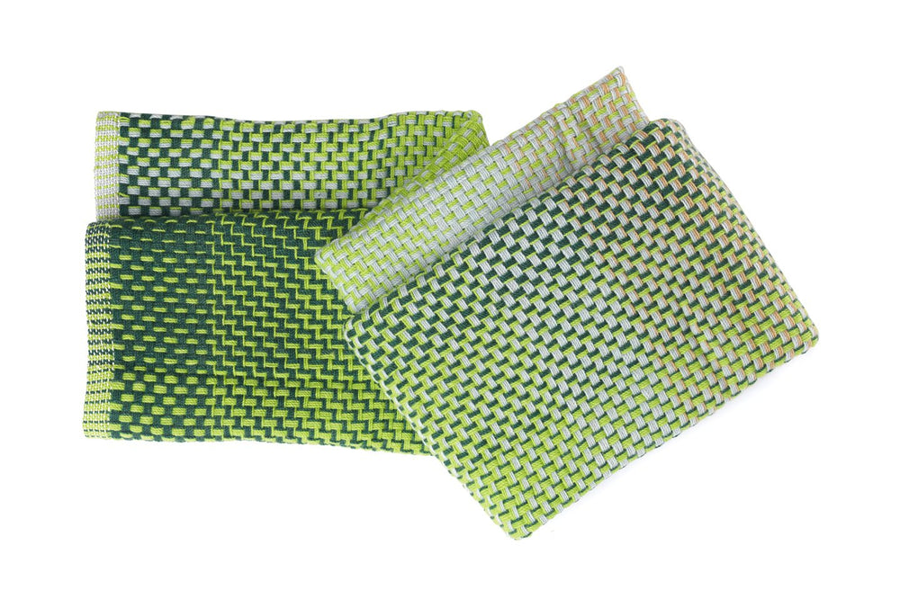 GRADIENT GREEN WOOL - THROW