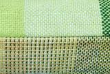 GRADIENT & SQUARES GREEN - CUSHION COVER