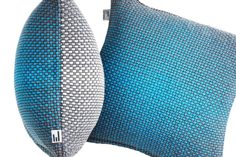TWO SIDE GRADIENT BLUE - CUSHION COVER
