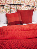 GRADIENT & SQUARES RED - CUSHION COVER