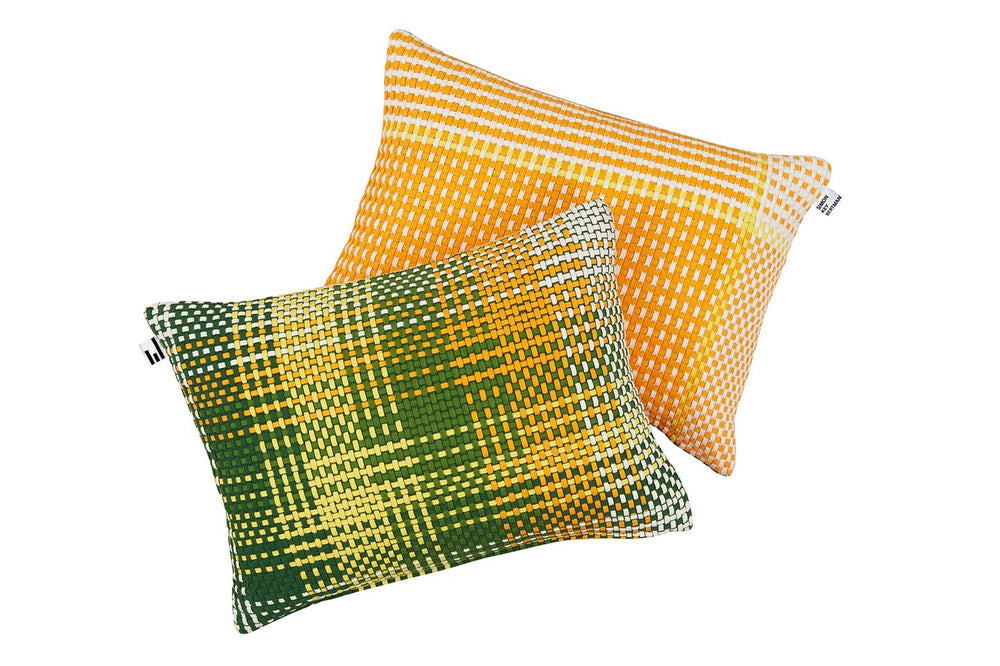 SHOELACES LEMON - CUSHION COVER