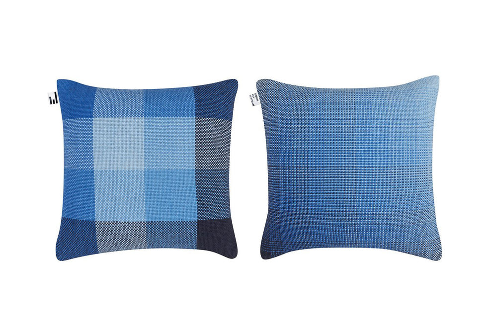 GRADIENT & SQUARES BLUE - CUSHION COVER