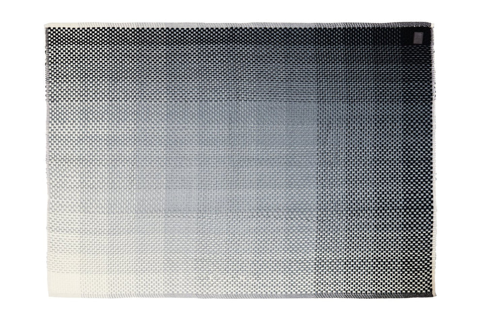 GRADIENT GREY WOOL - THROW