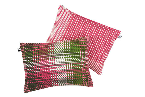SHOELACES RASPBERRY - CUSHION COVER