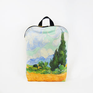 "Vincent van Gogh ""Wheat Field with Cypresses"" backpack"