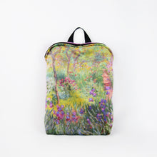 "Load image into Gallery viewer, Claude Monet ""The Artist's Garden at Giverny"" backpack"