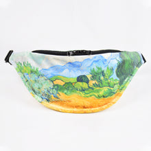 "Load image into Gallery viewer, Vincent van Gogh ""Wheat Field with Cypresses"" fanny pack"