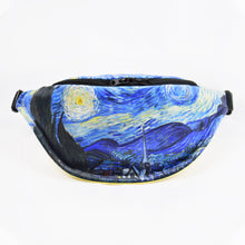 "Load image into Gallery viewer, Vincent van Gogh ""The Starry Night"" fanny pack"