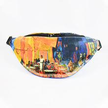 "Load image into Gallery viewer, Vincent van Gogh ""Café Terrace at Night"" fanny pack"
