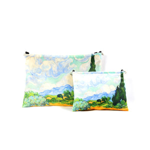 "Vincent van Gogh ""Wheat Field with Cypresses"" cosmetic bag"