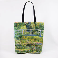 "Load image into Gallery viewer, Claude Monet ""The Water Lily Pond"" shopper / tote bag"