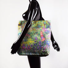"Load image into Gallery viewer, Claude Monet ""The Artist's Garden at Giverny"" shopper / tote bag"