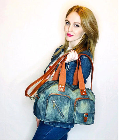 Dakota - Blue - Washed Denim Bag