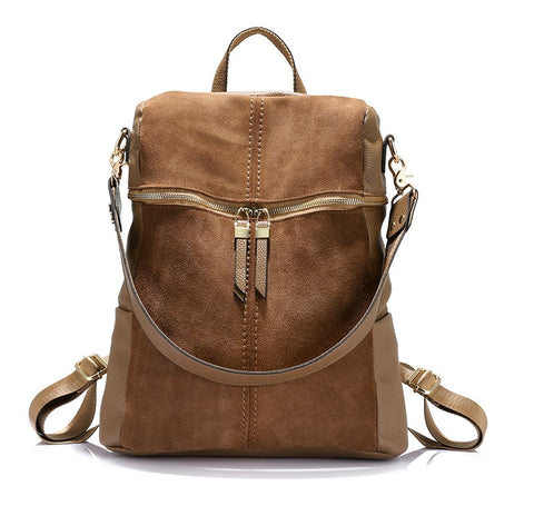 Sienna - Brown - Suede Satchel