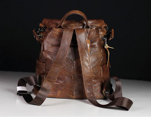 Scarlet - Brown - Genuine Leather Satchel