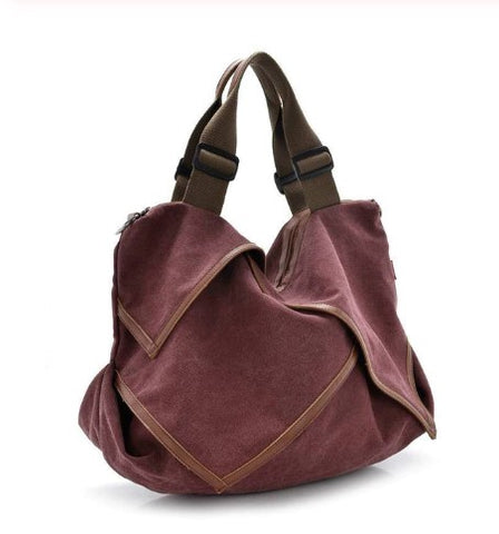 Claire - Burgundy - Canvas Bag