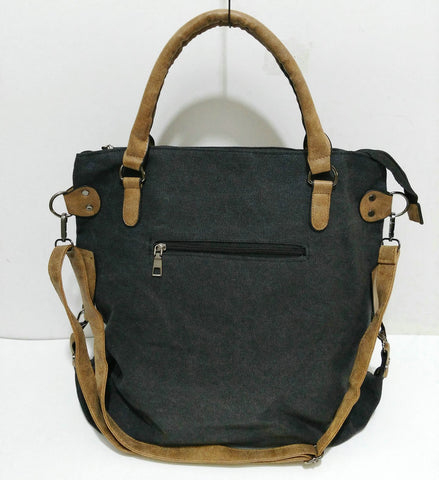 Camille - Black - Canvas Tote Bag