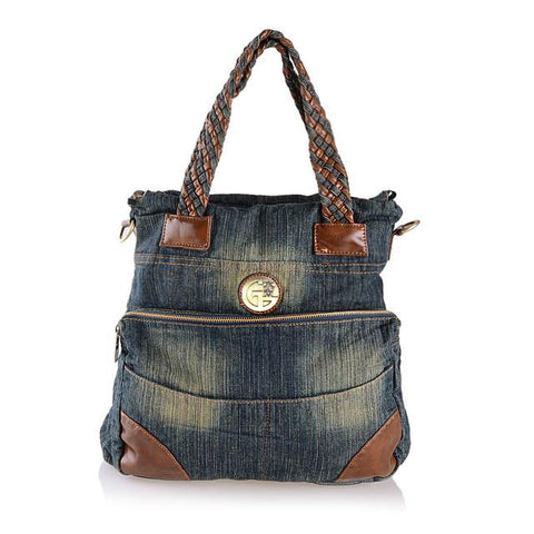 Debbie - Blue - Washed Denim Bag