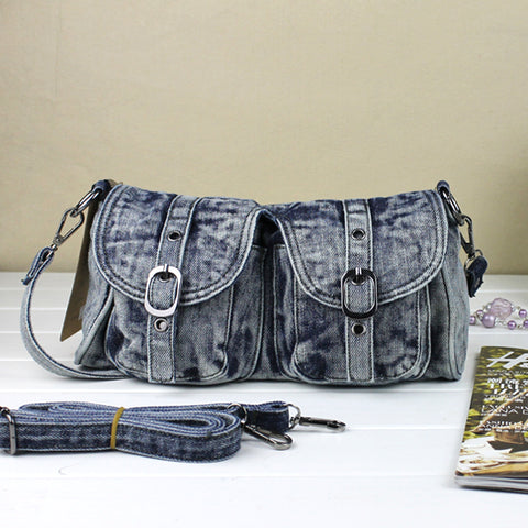 Dianne - Blue - Vintage Denim Shoulder Bag