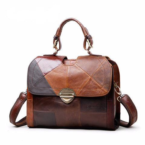 Carrie - Retro Style Genuine Leather Handbag