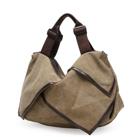 Hannah - Khaki - Canvas Tote Bag