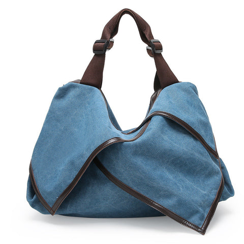 Hannah - Blue - Canvas Tote Bag