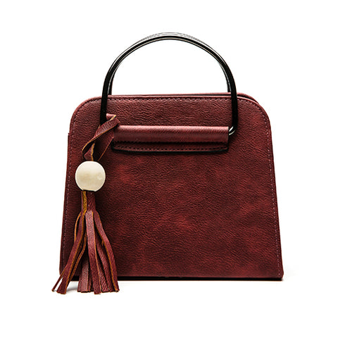Jenny - Red - PU Leather Handbag