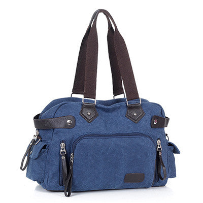 Abigail - Navy Blue - Canvas Tote Bag