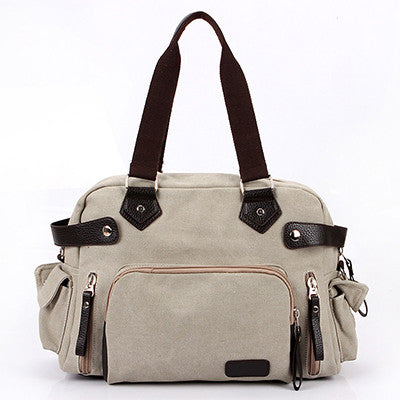 Abigail - Beige - Canvas Tote Bag