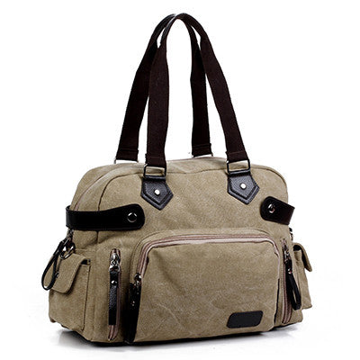 Abigail - Khaki - Canvas Tote Bag