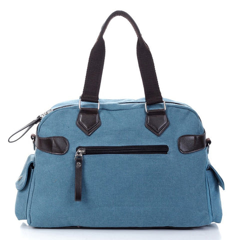 Abigail - Blue - Canvas Tote Bag