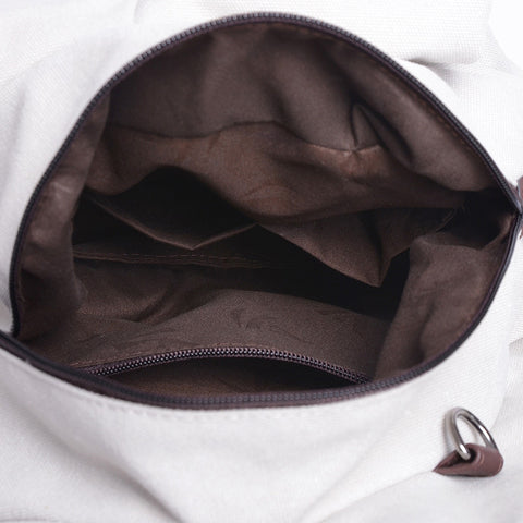 Vienna - Brown - Canvas Handbag