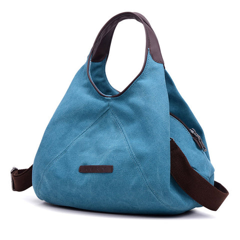Vienna - Blue - Canvas Handbag
