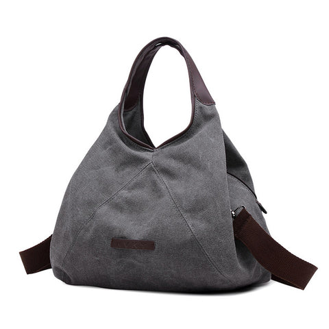 Vienna - Grey- Canvas Handbag