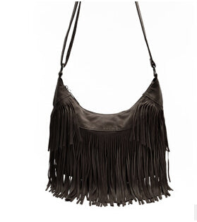 Tarla - Coffee - Shoulder Tassel Bag
