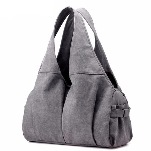Jamie - Grey - Canvas Handbag