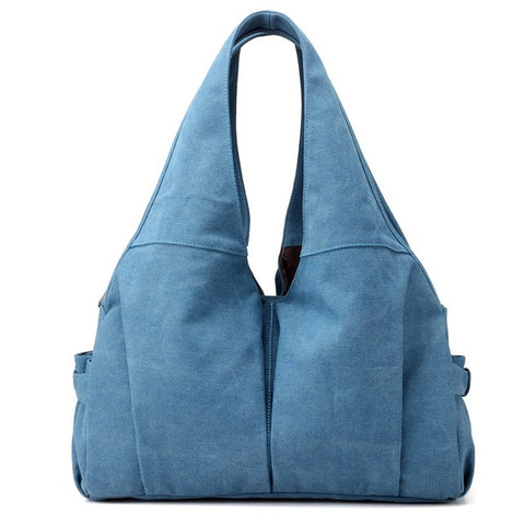 Jamie - Blue - Canvas Handbag
