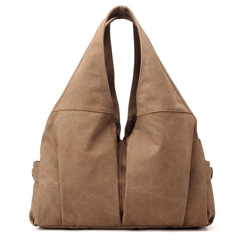 Jamie - Khaki - Canvas Handbag