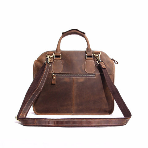 Joey - Brown - Vintage Genuine  Leather Bag