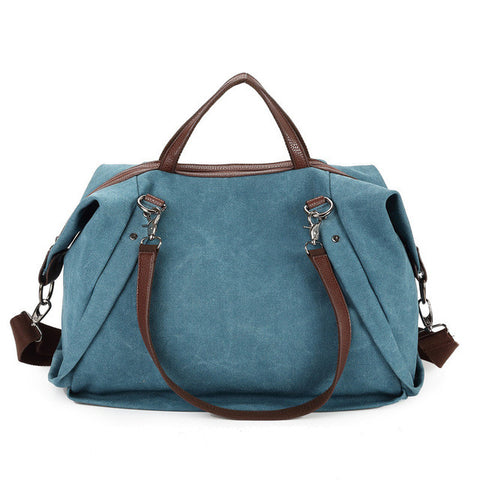 Danielle - Blue - Large Canvas Bag