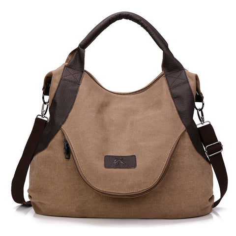 Alison - Coffee - Casual Canvas Tote Bag
