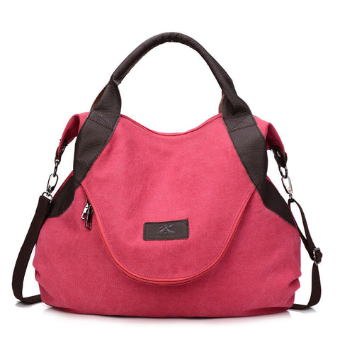 Alison - Pink - Casual Canvas Tote Bag