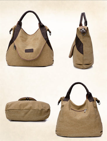 Alison - Blue - Casual Canvas Tote Bag