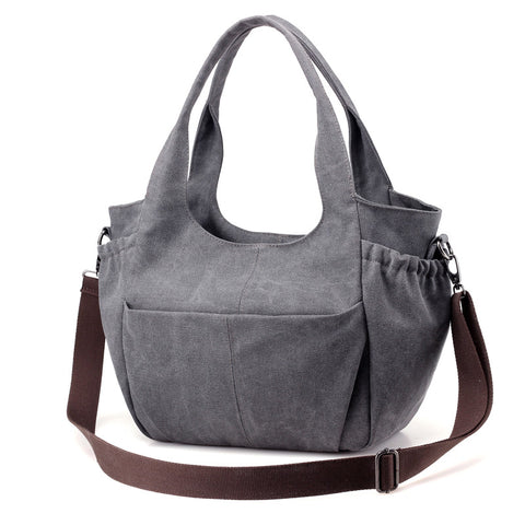 Celia - Brown - Canvas Tote Bag