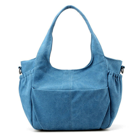 Celia - Blue - Canvas Tote Bag