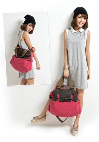 Elaine - Pink - Canvas Tote Bag