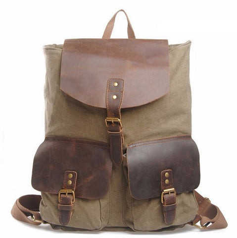 Santiago - Army Green - Canvas Backpack