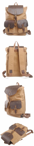 Santiago - Khaki - Canvas Backpack